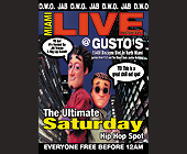 Ultimate Saturday Hip Hop Spot at Gusto's - tagged with saturday night