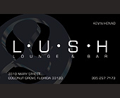 Lush Lounge and Bar - tagged with circle design