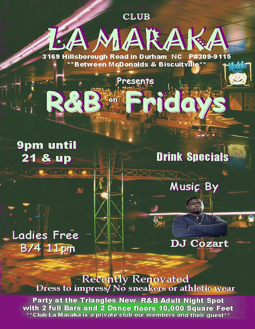 La Maraka R & B Fridays