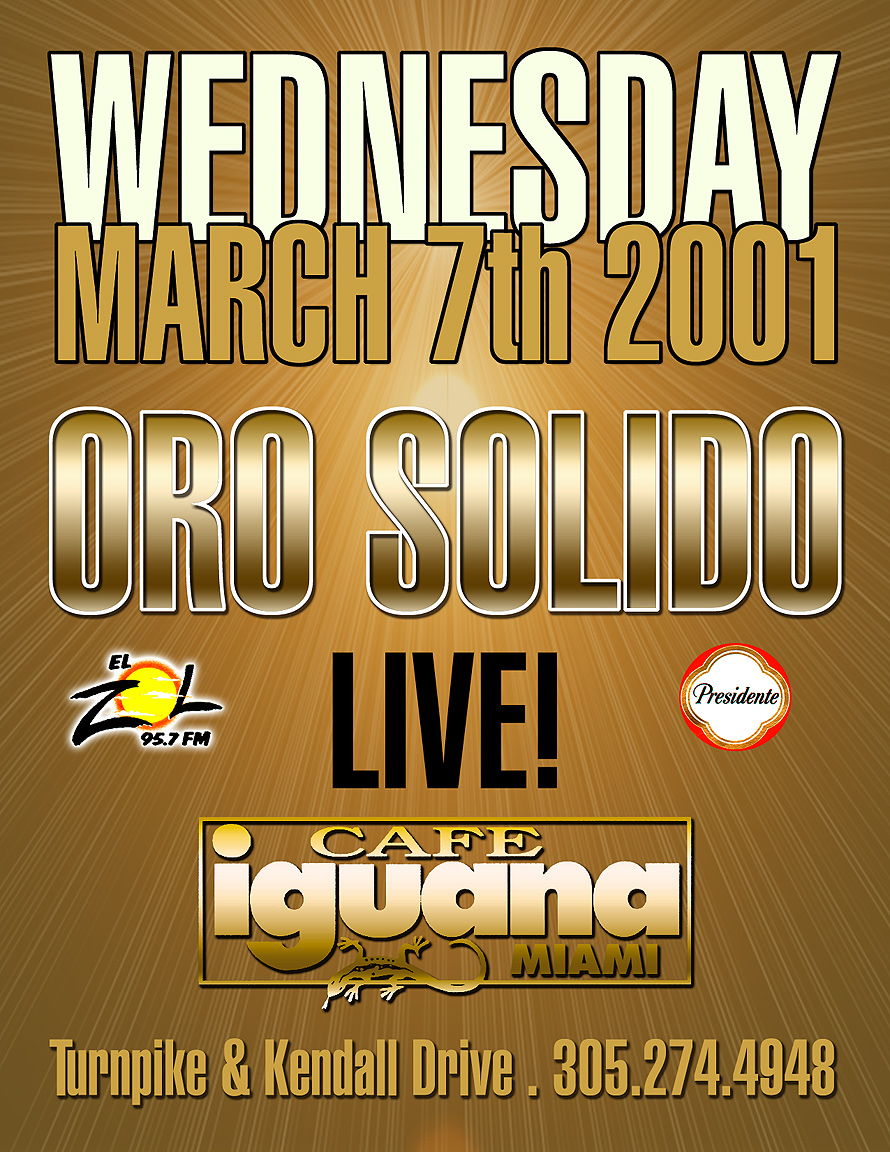 Oro Solido Live at Cafe Iguana Kendall