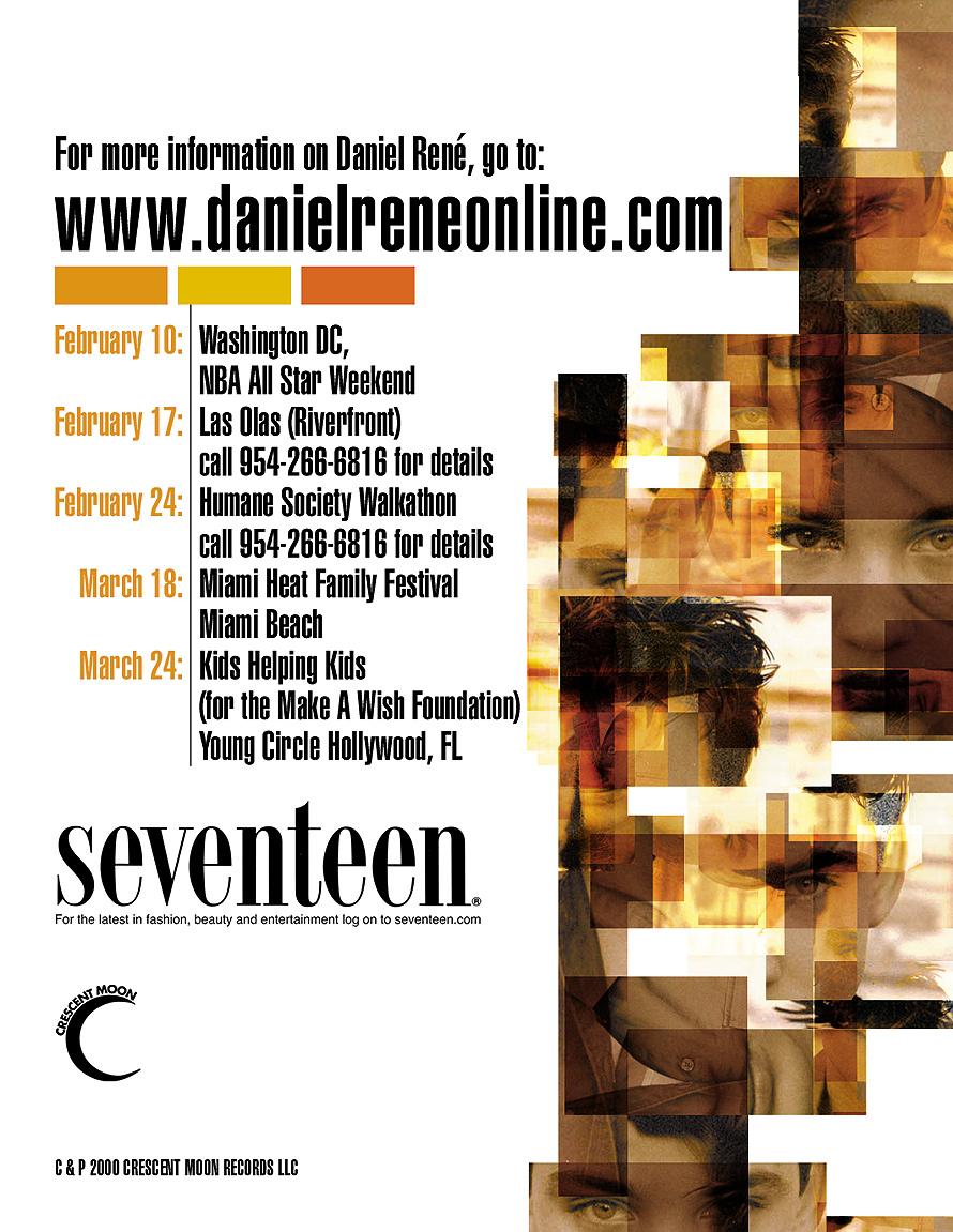 Daniel René Concert Schedule