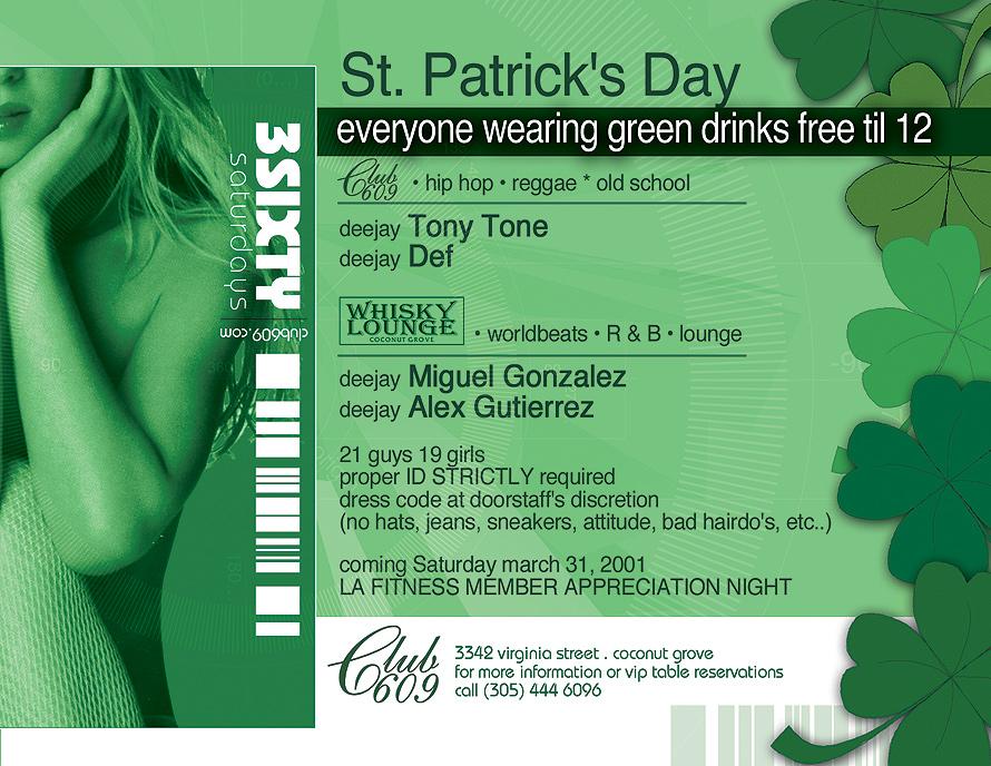 St. Patricks Day at Club 609