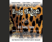 Pussy Gallore Thursdays at Club 609 in Coconut Grove - tagged with 21 guys 18 ladies