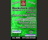 Rockstock 2001 Springbreak & St. Patricks Day at Mad House - created March 12, 2001