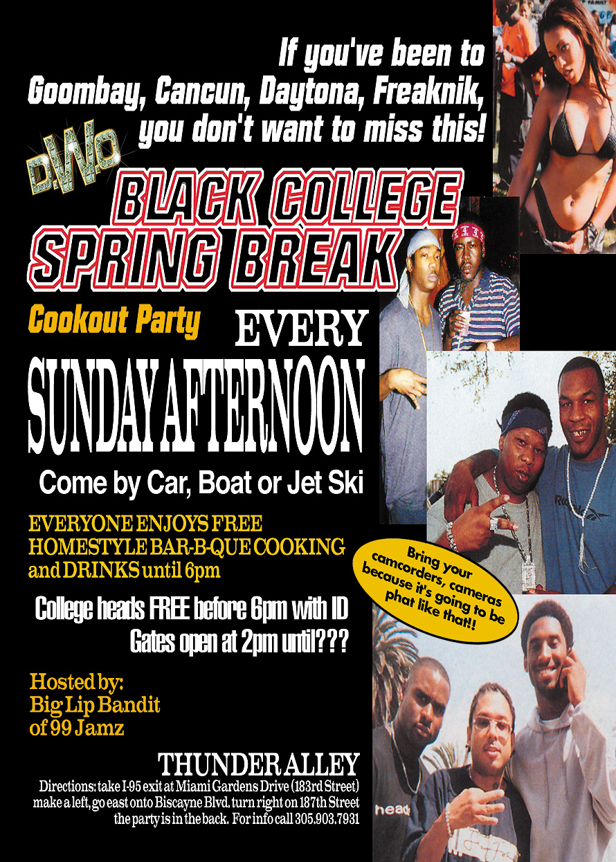 March Madness Black Spring Break College Party