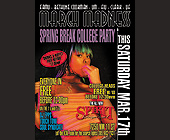 March Madness Black Spring Break College Party - Spirit International Graphic Designs
