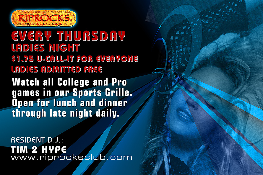 Riprocks Nightclub and Sports Grill Ladies Night
