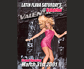 Grand Opening of Latin Flava Saturdays at Valentino - tagged with doors open at 9pm