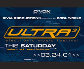 Ultra 3 Electronic Music Festival - created March 2001