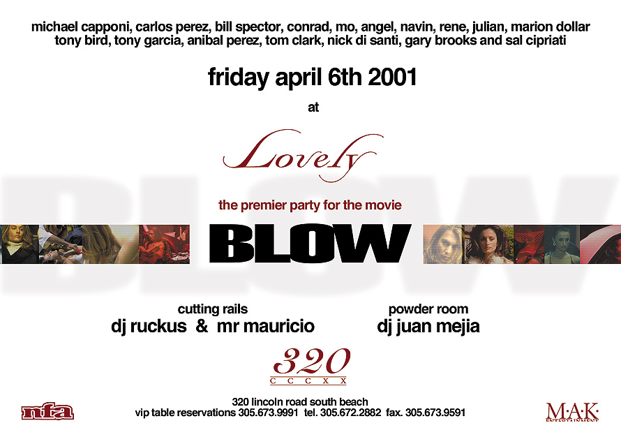 Blow Premier Party at Lovely 320