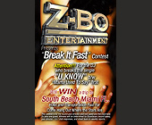 Z-Bo Entertainment Presents Break It Fast Contest - designed by Digital