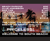 Beach Parking Club Admission Bar Tab - tagged with 900