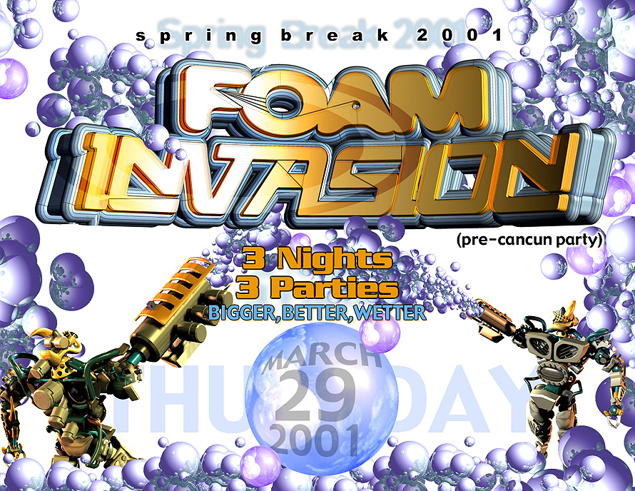 Spring Break Foam Invasion Teaser