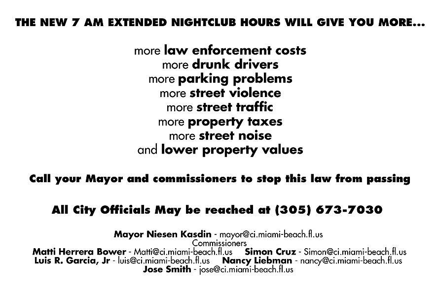 7am Extended Nightclub Hours
