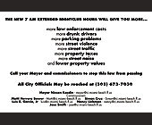 7am Extended Nightclub Hours - created March 09, 2001