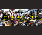 Sunrise Sunday Mornings at Club Space - 2750x1063 graphic design