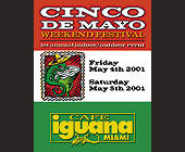 Cinco de Mayo at Cafe Iguana Miami - created April 2001