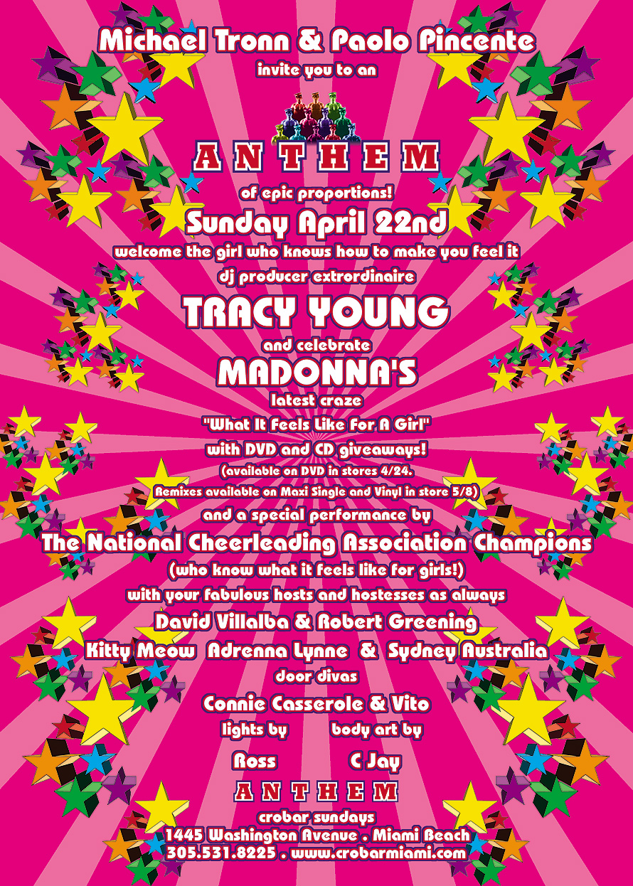 Anthem with DJ Tracy Young at Crobar