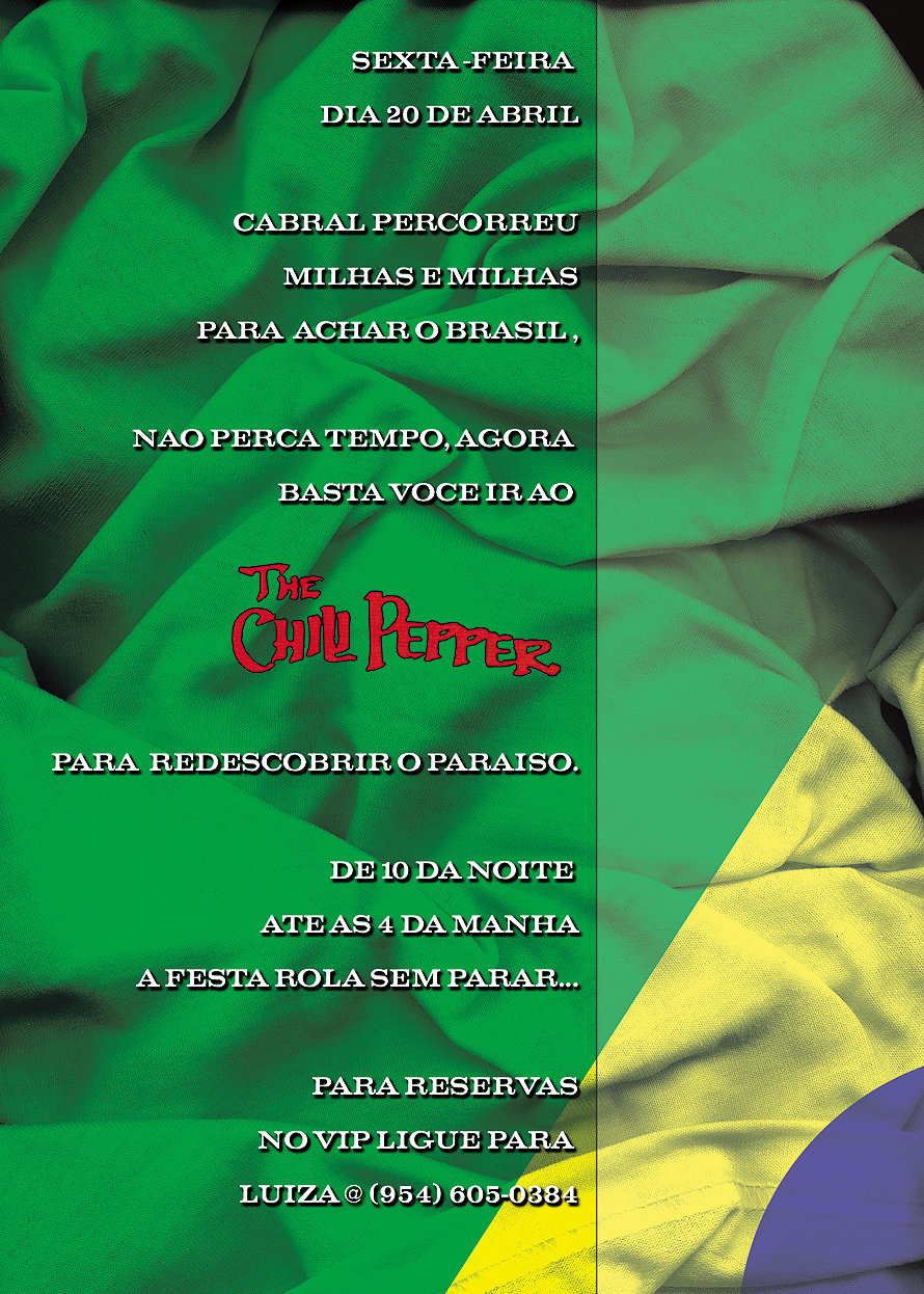 Brazilian Party at The Chili Pepper