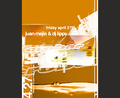 Juan Mejia and DJ Lippy at Crobar - Nightclub