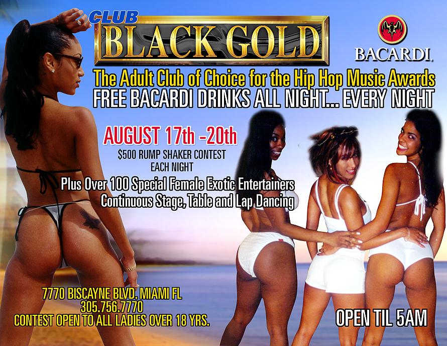 Black Gold Adult Club Rump Shaker Contest