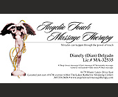 Angelic Touch Massage Therapy Appointment Card - tagged with massage therapy