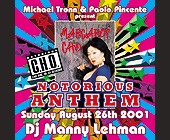 Anthem Notorious at Crobar - Gay and Lesbian Graphic Designs