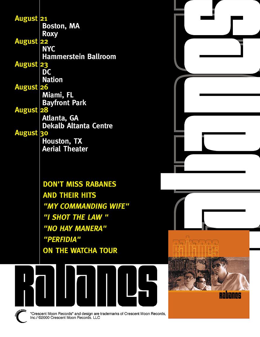 Rabanes Tour Schedule
