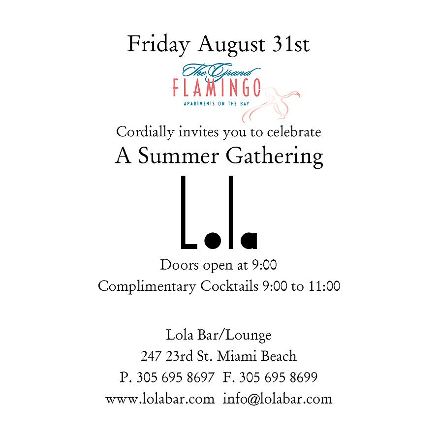 A Summer Gathering at Lola Bar and Lounge