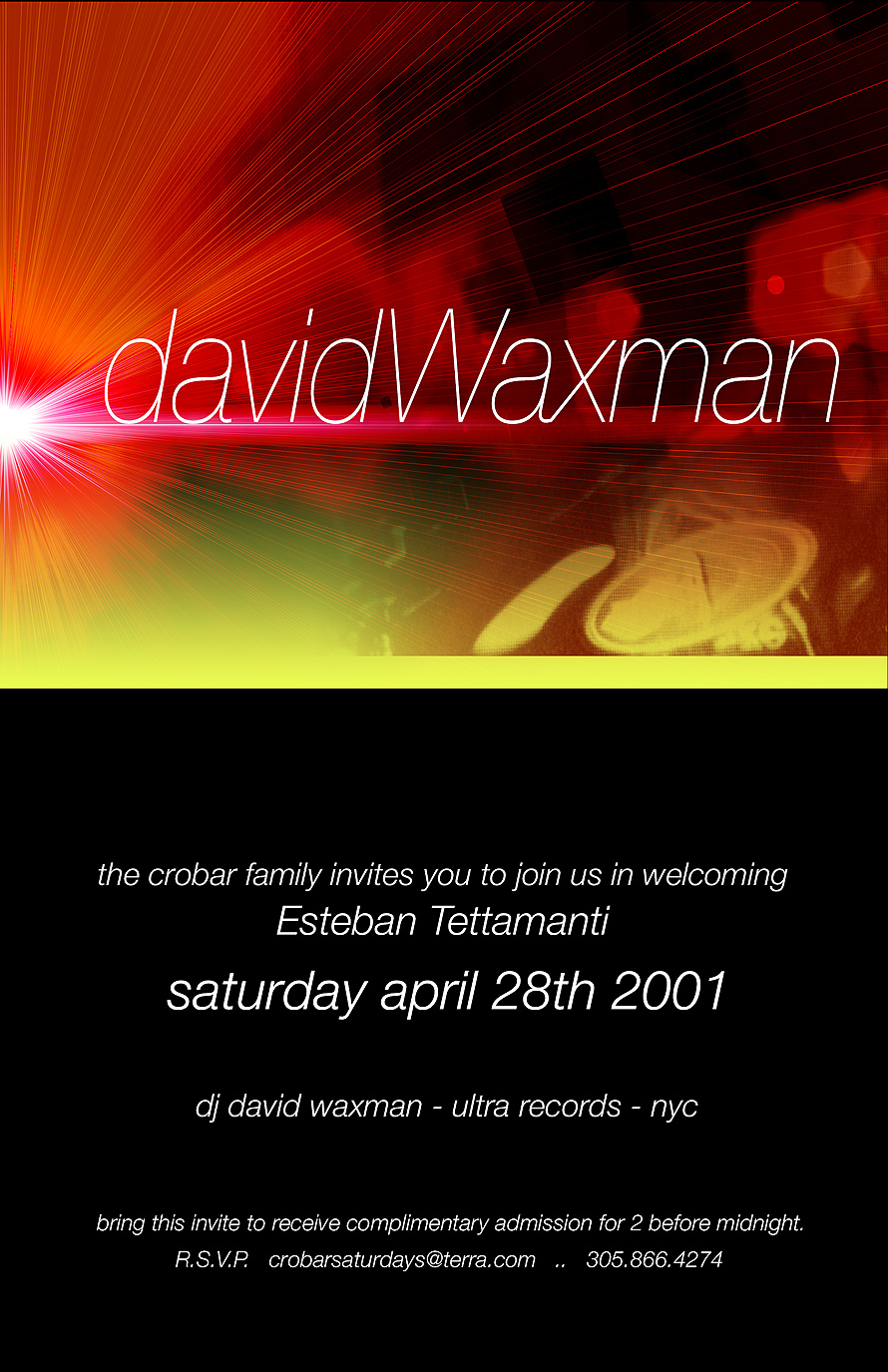 David Waxman at Crobar