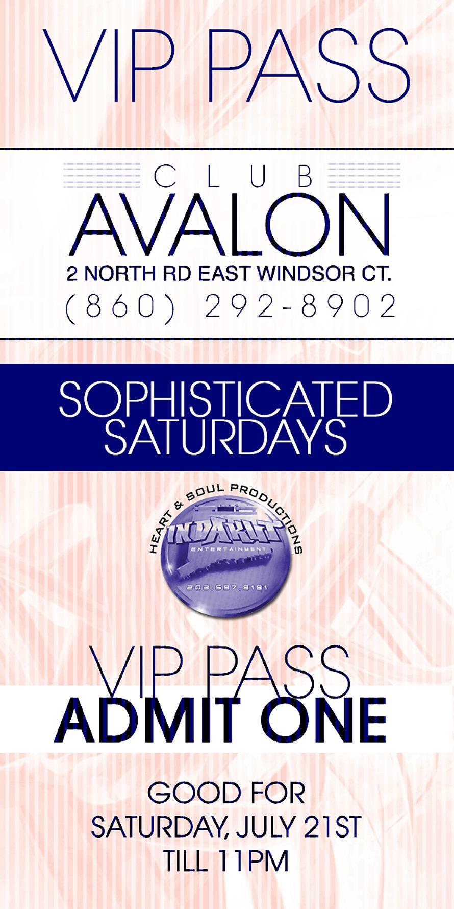 Club Avalon VIP Pass