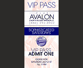 Club Avalon VIP Pass - tagged with vip pass