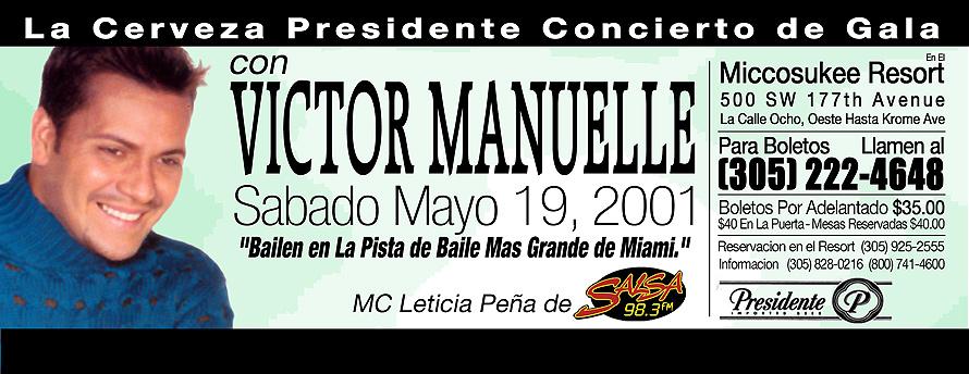 Miccosukee Resort Casino Presents Victor Manuel