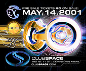 Go at Club Space - tagged with millennium dreamers logo