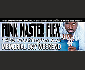 Funk Master Flex Memorial Day Weekend - created April 27, 2001