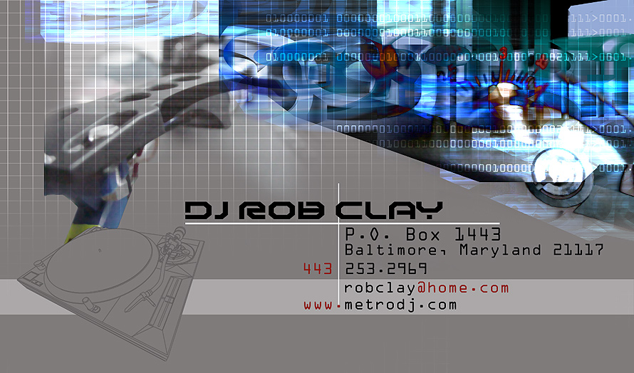 DJ Rob Clay Business Card
