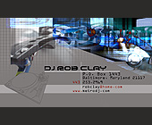 DJ Rob Clay Business Card - tagged with turntable