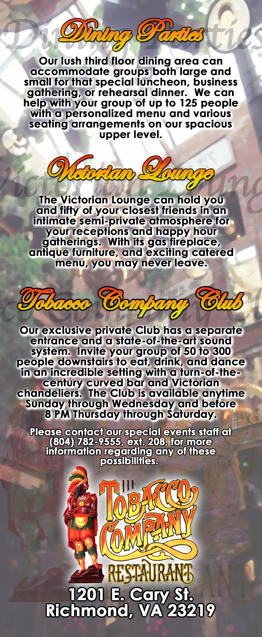 Tobacco Company Restaurant Mail Out