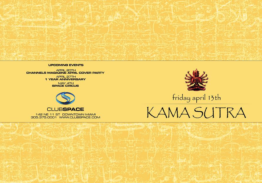 Kamasutra Fridays at Club Space