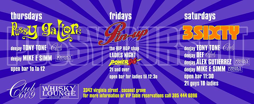 Pussy Pursuit Hip Hop Events at Club 609