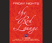 The Red Lounge at Club Space Complimentary VIP Table - created April 30, 2001