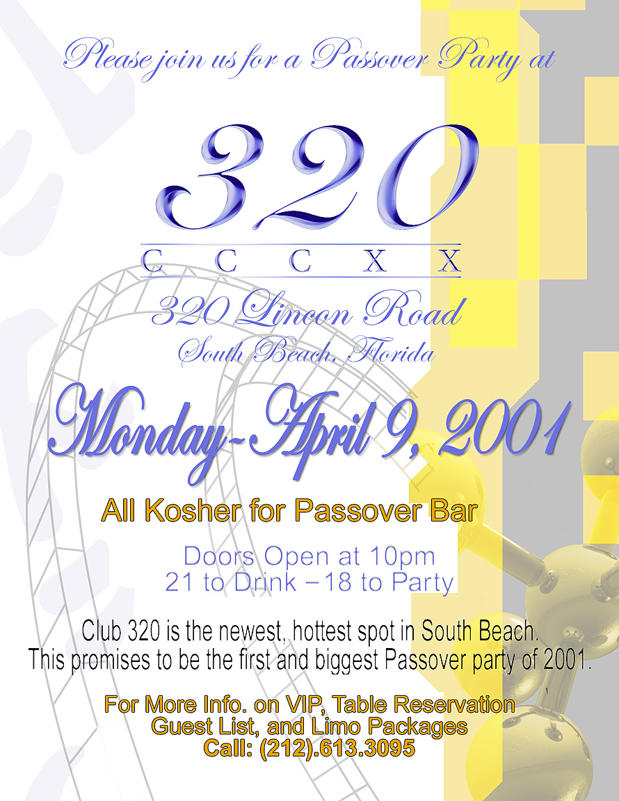 All Kosher Passover Party at Club 320