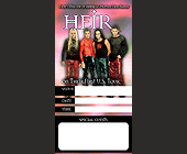 First US Tour for Heir at The Hard Rock Cafe - 825x1650 graphic design