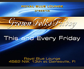 Grown Folks Friday at Royal Blue Lounge - created May 01, 2001