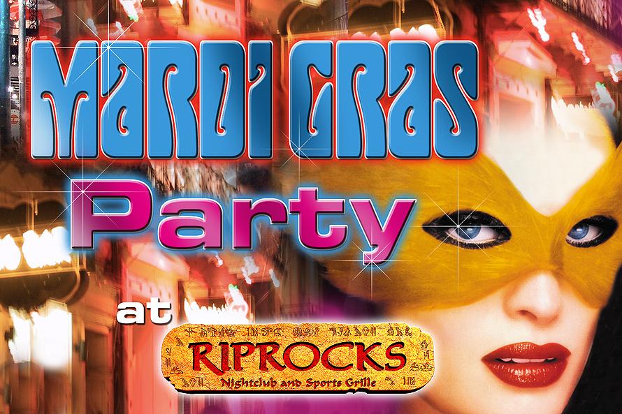 Mardi Gras Party at RipRocks