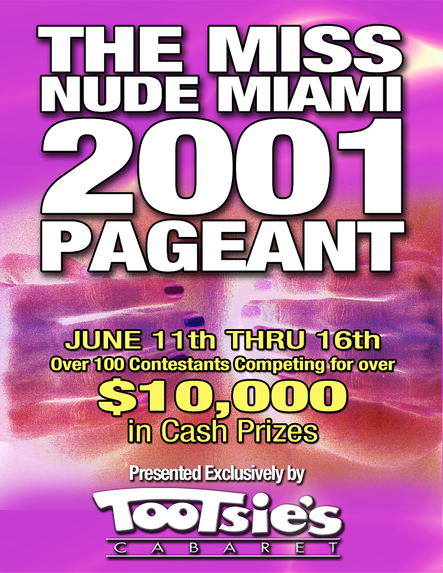Miss Nude Miami Pageant at Tootsie's Cabaret