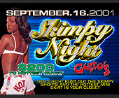Skimpy Night at Gusto's - tagged with ebony model