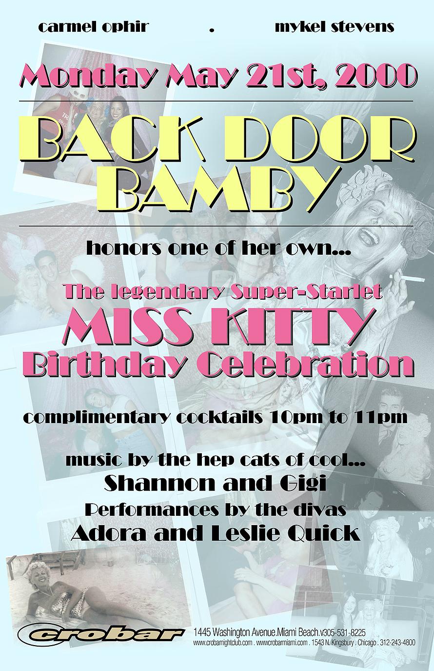 Back Door Bamby Miss Kitty Birthday Celebration at Crobar