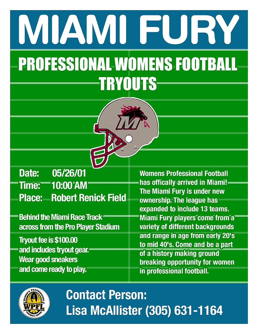 Miami Fury Pro Womens Football Tryouts