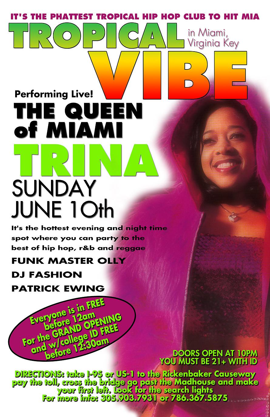 Trina Performing Live at Tropical Vibe